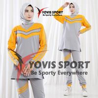 New Stelan Senam Muslim Joger / Baju Olahraga Wanita / Ori Yovis