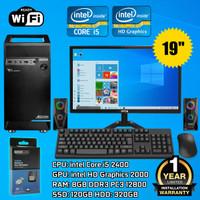 PC RAKITAN FULL SET | Intel Core i5 2400 | RAM 8GB | Monitor 19 Inch