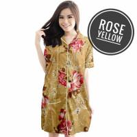 DASTER/PIYAMA/BAJU TIDUR/BAJU IBU HAMIL MENYUSUI/DRESS/MOTIF CANTIK - Rose Yellow