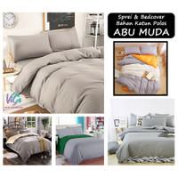 Vige Bedcover Set Abu Muda Katun Polos Size Double | Bad Cover Polos