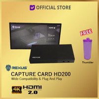 Rexus HD100 HDMI 4K Game Video Capture Card Stream Record HD 100