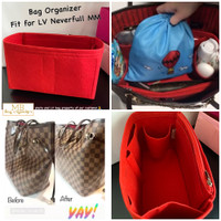 Bag Organizer suitable for LV neverfull MM size - Scarlet Red