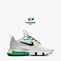 Nike Air Max 270 React SE Men's Running Shoes - WHITE/BLACK-BLUE FURY-