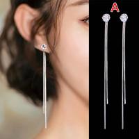 Anting Tusuk Wanita Style Korea Model Stud Diamond Mix Long Chain 426