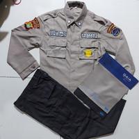 Baju PDL satpam lengkap terbaru bahan GAIA - XS