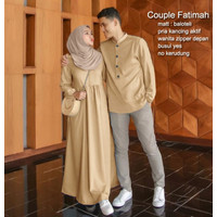 Asli Bahan Mewah FATIMAH Baju Couple Muslim Gamis Fashion PASANGAN