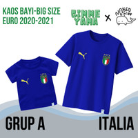 Kaos Naked & Free Bayi-Remaja Tema Euro 2021 Grup A (Italia) Katun 30s - Benhur, Italia, 3XS