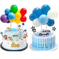 10 Pcs Balon Mini Topper Kue Ulang Tahun Hiasan Kue