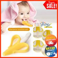 Sikat Gigi Bayi Anak Model Pisang Teething Toothbrush Gigitan Banana