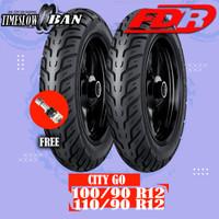 Sepasang Ban Motor HONDA SCOOPY FDR CITY GO 100/90 - 110/90 Ring 12