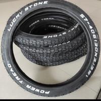 Ban Luar Sepeda LUCKY STONE Ukuran 20 x 2.125 BMX/Minion/Lipat/Mini