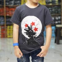 baju kaos anak laki laki karakter motif DRAGON BALL GOKU