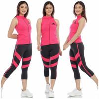 Setelan Olahraga Wanita Setelan Senam Setelan Tanktop Adidas