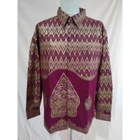 Baju Batik Songket Palembang Motif Wayang Merah ( Bisa Couple ) - Pria