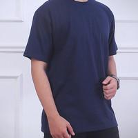 kaos polos cotton combed 20s biru dongker