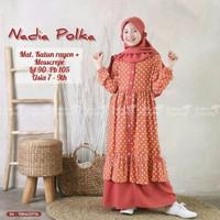 baju gamis muslim anak perempuan terbaru termurah 8-9 thn gamis anak