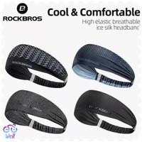 ROCKBROS Cycling Sweatband Bandana Hair Band Head Bando Ikat kepalaZHD