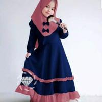 Firza Kids Baju Muslim Gamis Anak Perempuan Usia 3-4 Tahun