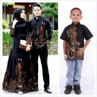 Baju sarimbit gamis motif naga jumbo batik couple keluarga dan anak