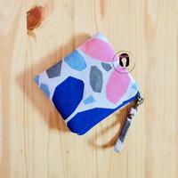 Hibiscus Petals Linen Canvas Mini Coin Purse Dompet Kartu Pouch Kanvas