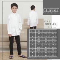 Baju koko anak Hilsyafa atau Tsaqofah bukan Ammu. Tangan Panjang Putih