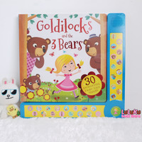 Buku Anak Import sound book Goldilocks and the 3 Bears with 30 sounds