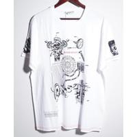 Men Schematics Printed Logo T-Shirt in White