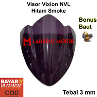 Visor Vixion NVL Lama Windhield Vixion Old 2012 2013 2014 Hitam Bening