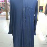 Baju gamis jubah pria merk Haikal bahan katun rayon denim