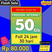 PAKET DATA INDOSAT FREEDOM INTERNET 50GB FULL 24JAM