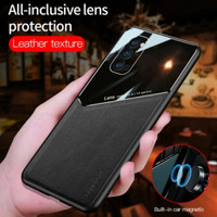Case OPPO A74 4G Softcase leather kulit back glass cover