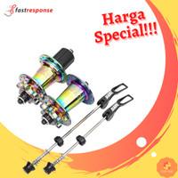 Hub Freehub Sepeda Jangkrik Bearing QR Koozer XM490 Pro 32H Pelangi