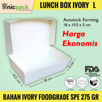 Paper Lunch Box size L Bahan Ivory Foodgrade