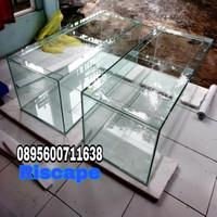 aquarium 100x50x50 8mm dan talang filter