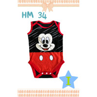 HELLO MINI Jumper Pendek Baby Boy / Girl Bayi Laki Laki / Perempuan - Mickey, 6M