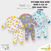 baju tidur anak big size piyama velvet junior here comes the sun