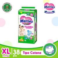 Hijau XL38 - Merries Good Skin XL Pants 38 XL 38pcs Diapers Popok Bayi