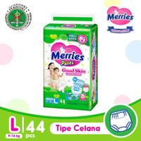 Hijau L44 - Merries Good Skin L Pants 44 L 44pcs Diapers Popok Bayi