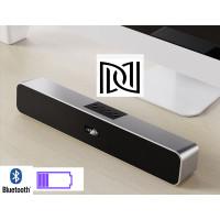 bluetooth speaker stereo battery portable TV/phone/ FM soundbar-Perak - Abu-abu