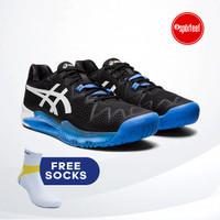 Asics Gel Resolution 8 Tennis Shoes / Sepatu Tenis Black Blue Original