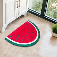 Keset Kaki Handtuft Halus Unik Watermelon Tebal 40x60 cm