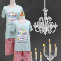 Baju Tidur Anak Cewek Anne Claire ( GELATO ) st .lengan pdk celana pdk