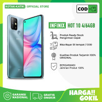 INFINIX HOT 10 4/64GB RAM 4GB INTERNAL 64GB - GARANSI RESMI