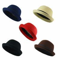 Topi anak Chaplin Bowler Hat Wanita Fedora