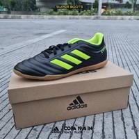Sepatu Futsal Adidas Copa 19.4 IN – Black Yellow Original BB8098