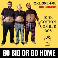Kaos Big Size Pria Jumbo Cotton Combed 30s/Kaos Polos XXL XXXL XXXXL