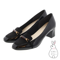 JELLY BEANS SHOES Bit Part Loafer Pumps<FUWASARA>125-04522 Flat - Black, 22.5