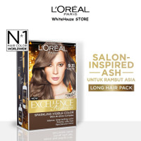 L'Oreal Paris Hair Color # 9.11 Silver Ash - Cat /Semir Pewarna Rambut