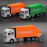 mainan mobil truk Pembersih sampah Bahan alloy