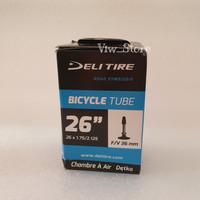 Ban Dalam Sepeda Deli Tire 26 x 1.75 - 2.125 FV cop kecil presta
